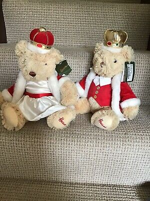 HARRODS Teddy Bears King & Queen Bear Special Edition For Harrods With Tags • 30£
