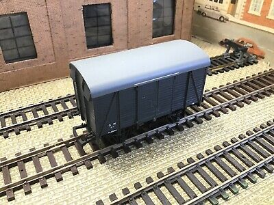 DAPOL 00 GAUGE B GW GWR GREY TWIN VENT BOX VAN /GOODS WAGON 144888. COMPLETE (c) • 4.50£