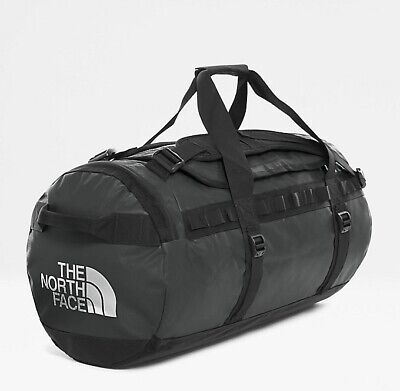 The North Face Black Base Camp Duffel Bag With Silver North Face Size Medium NEW • 99.99£