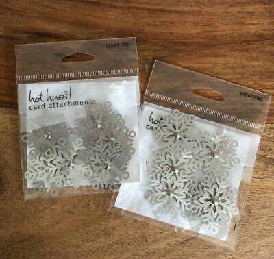 $8.99 • Buy Diecut ❄️Silver Metal Snowflakes W/brads (2) Pkgs Of 6 = 12 Total NEW In Pkg