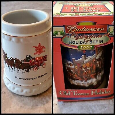 $ CDN46.12 • Buy Budweiser Champion Clydesdales Beer Mug Stein Lot Of 2 One Rare Vintage