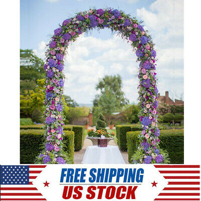 $25.93 • Buy 7.5Ft Green METAL ARCH For Wedding Party Bridal Prom Garden Floral Decor Arbor