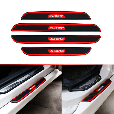 4pcs Rubber Car Door Scuff Plate Sill Cover Panel Step Protector Car Accessories • 11.61£
