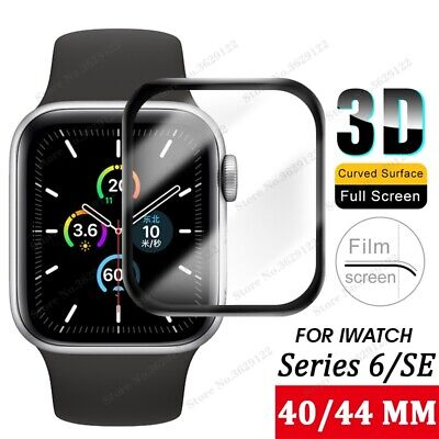 $ CDN4.64 • Buy For Apple Watch Series 6 SE Full Cover Tempered Glass Screen Protector 40&44mm