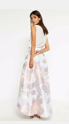 Ted Baker Maxi Skirt Taffeta Prom High Low Wedding Party Ball Gown 6  • 9.99£