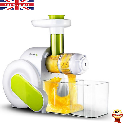 Slow Masticating Cold Press Juicer Whole Fruit Vegetable Extractor W/Quiet Motor • 119.99£