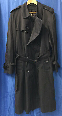 Burberry Mens Navy Trench Coat With Wool Liner 52 Reg • 29.99£