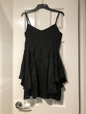 AU40 • Buy Brand New With Tags Tigerlily Rayon Black Ruffle Shoestring Montieri Dress 6