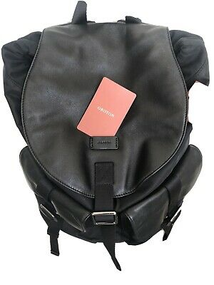AU80 • Buy Near New With Tags Oroton Crusade Backpack Black Leather/Material. RRP $299