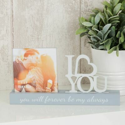 4  X 4  - Celebrations Cut Out Photo Frame - I Love You • 11.69£