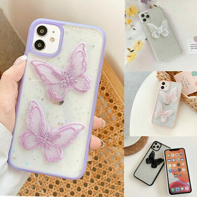 AU11.99 • Buy Lace Butterfly Phone Case For IPhone 7 8 11 X XS XR Plus Pro Max SE 2020 Cute