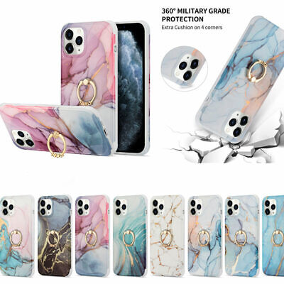 AU13.25 • Buy Marble Shockproof Ring Holder TPU Case Cover For IPhone 11 Pro Max X XS XR 8 7