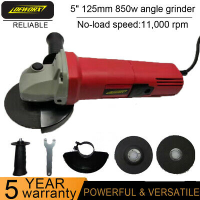 850W Corded Electric Angle Grinder 125mm Heavy Duty Cutting Grinding 5  Polisher • 18.50£