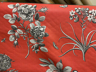 Sanderson Furnishing Fabric Etchings And Roses Red £10 Per Metre Free Postage • 10£