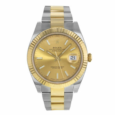 $ CDN19999.65 • Buy Rolex Datejust 41 Steel 18K Yellow Gold Champagne Index Dial Mens Watch 126333