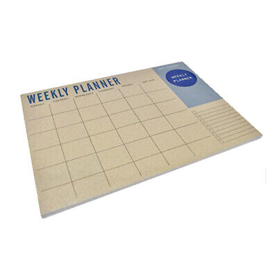 Weekly Planner Desk Pad Contains 50 Sheets 100gsm Paper Quality - Weekly View • 8.99£