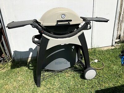 AU142.50 • Buy Weber Q Q200 Natural Gas BBQ Barbeque Temp Gauge With Trolley Cart And Cover