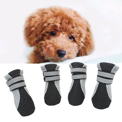 4pcs Dog Shoes Boots Booties For Snow Rain Waterproof Reflective Light Anti-slip • 8.59£