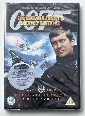 ON HER MAJESTY'S SECRET SERVICE 2 Disc Ultimate DVD Region 2 New Sealed • 6.50£