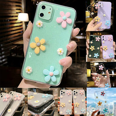 AU12.02 • Buy 3D Cute Flower Clear Soft Case Cover For IPhone 11 Pro Max XS Max XR SE2 8 Plus