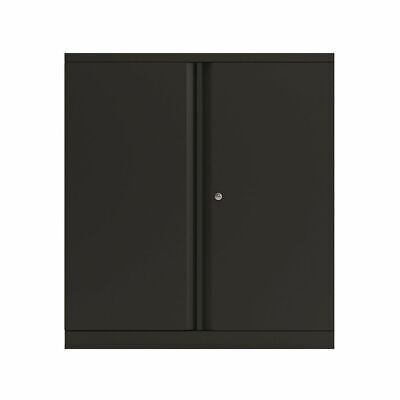 Bisley 2 Door 1000mm Cupboard Empty Black KF78711 • 319.89£
