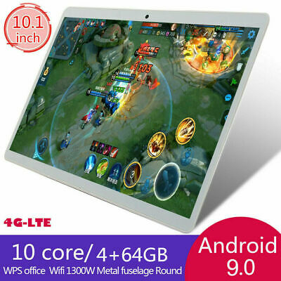 AU103.54 • Buy 10.1  2.5d FHD 4G-LTE WIFI Tablet PC Android 9.0 4+64GB GPS Dual SIM Camera AU