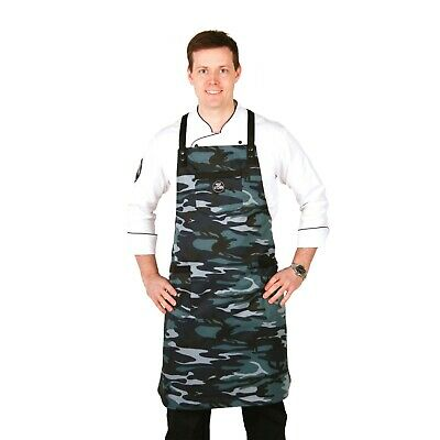 $55.75 • Buy Camo Kitchen Apron With Pockets And Towel Holder Baking Cooking Work Wear