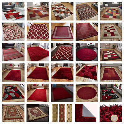 Large Modern Rugs,runners,circle Rugs, Red,ruby,shaggy,trellis, Flatweave,floral • 99.99£