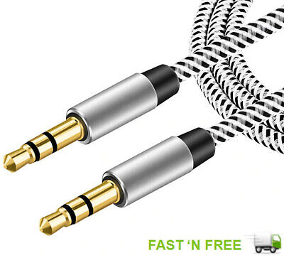 £2.49 • Buy 1M  3.5mm Jack Plug Aux Cable Audio Lead For To Headphone MP3 IPod PC Car GOLD