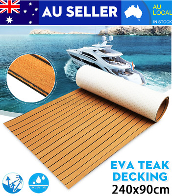 AU56.99 • Buy 2400X900X6MM Brown EVA Foam Boat Marine Yacht Floor Mat Faux Teak Decking Sheet