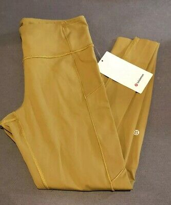"$ CDN63.02 • Buy NWT Lululemon Size 12 Fast Free HR Tight 28"" *Brushed Pant Leggings GRPL"