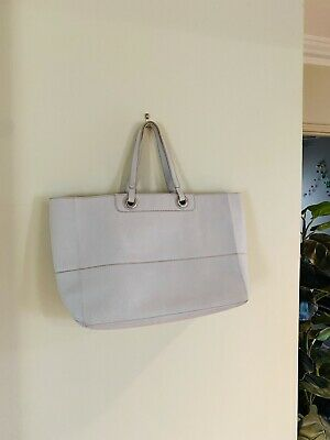 AU40 • Buy Oroton Entourage Pale Grey Leather Shopper Tote Bag