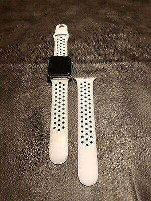 $ CDN251.35 • Buy Apple Watch Series 3 LTE 42mm GPS+ Cellular Stainless Steel Case Nike Sport Band