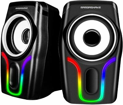 £15.89 • Buy PC Surround Sound System LED Speakers Game Deep Bass USB 3.5mm Desktop Computer