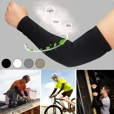 2/4 Pack Unisex Cooling Arm Sleeves Cover Cycling Running UV Sun Protection UK • 5.99£
