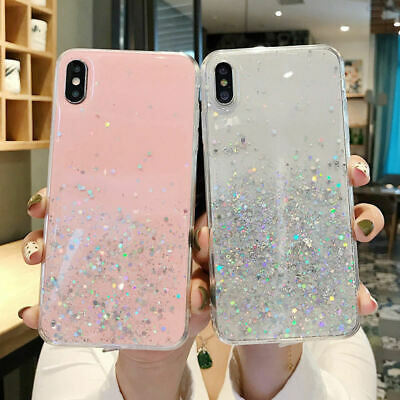 AU9.25 • Buy STAR GLITTER Case For IPhone 11 Pro Max 7 8 XR X XS Clear Bling Phone Case Cover