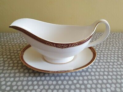 Royal Doulton  Tennyson  H5249 Gravy/Sauce Boat & Underplate  • 57.50£