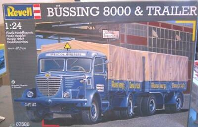 1999 REVELL  #07580 1:24 Scale 1950s CANVAS BUSSING 8000 & 8 WHEEL TRAILER  KIT • 85£