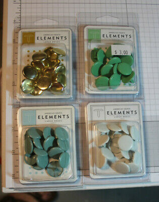 $2 • Buy ELEMENTS LARGE BRADS 4 Colors, Powder, White, Shamrock,gold