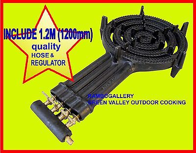 AU119 • Buy FREE PICK UP FREE1.2M Hose 4 Ring Wok Burner BBQ Cooker LPG Gas Portable Cooktop
