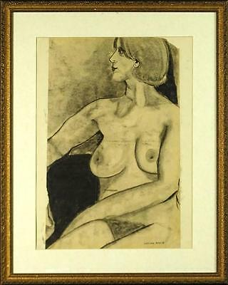Lucian Freud  Nude  Original Charcoal On Paper - Hand-signed By Artist • 55,000£