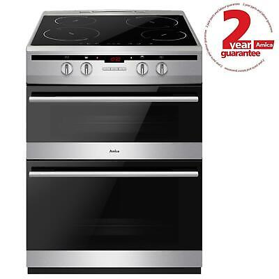 £609.99 • Buy Amica AFN6550SS 60cm Freestanding Double Electric Cooker With Induction Hob