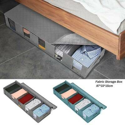 2x Large Capacity Under Bed Storage Bag Box 5 Compartments Clothes Organiser UK • 8.99£