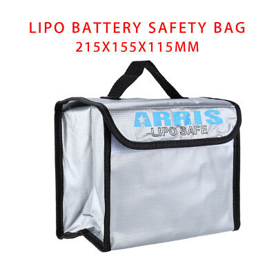 Anti-Explosion Lipo Battery Safe Bag 215x155x115mm For RC FPV Drone Storage Kit • 10.45£