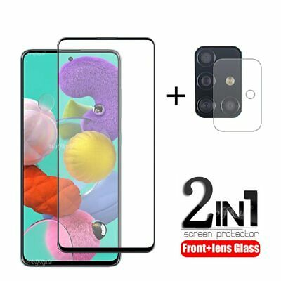 £4.69 • Buy 2-in-1 For Samsung Galaxy A51 Glass For Samsung M21 Tempered Glass Full Glue