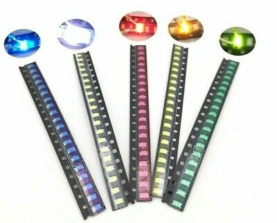 $6.80 • Buy 100pcs SMD 0402 0603 805 1206 LED Lights /choose Color And Light   USA Ship/sold