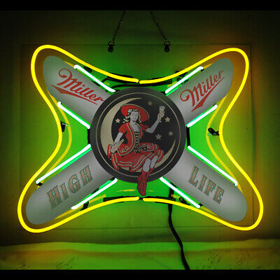 $138 • Buy Neon Signs Gift Miller High Life Beer Bar Pub Party Store Room Wall Decor 19x15