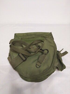 $39.99 • Buy US Military Surplus Field Protective Gas Mask Canvas Carry Bag Case Straps Vtg