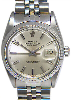 $ CDN5680.55 • Buy Rolex Vintage Datejust Steel Silver Dial USA Bracelet Mens 36mm Watch 1603