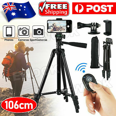 AU21.95 • Buy Professional Camera Tripod Stand Mount Phone Holder For IPhone DSLR Travel AU